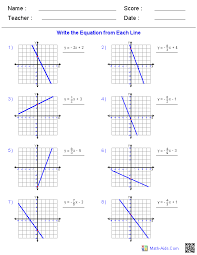 algebra 1 worksheets linear equations
