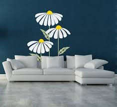 Large Daisy Decal Daisies Flower Decor Floral Wall Decal Flower Nursery Decor Flower C Kids Room Wall Decals Wall Decor Living Room Simple Wall Paintings