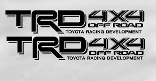 Trd Toyota Truck Tacoma 4x4 Off Road Vinyl Decals 2 Sets Www Knlgiftshop Com
