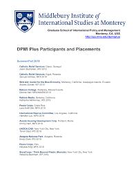 DPMI Plus Participants and Placements