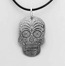 sterling sugar skull pendant tom s