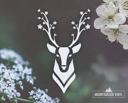 Amazon Com Doe Vinyl Decal Deer Head Water Bottle Stickers Deer Antlers Laptop Stickers Cute Car Decals For Country Girls Stag Flask Stickers Buck Decals For Tumblers Wildlife Mirror Decals Handmade