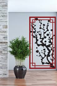 Wall Decals Japanese Plum Panel Screen Ornamental Legacy Screen Dual Color 32 Colors 5 Sizes Walltat Com Art Without Boundaries