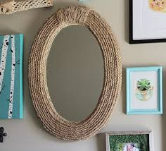 diy nautical rope mirror upcycled