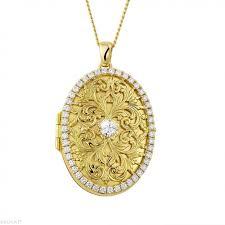medallion with small round diamonds