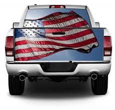 Back Lit American Flag Wrap Rear Window Tailgate Graphics Decal Kit Ebay