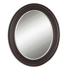 dark oil rubbed bronze oval mirror
