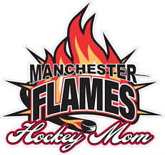 Manchester Flames Hockey Car Window Decals Clings Tagsports