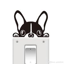 Funny French Bulldog Light Switch Sticker Window Decorative Vinyl Wall Decals Removable Animals Wall Art Stickers Home Decor Buy Wall Sticker Buy Wall Stickers From Joystickers 14 2 Dhgate Com