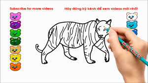 hướng dẫn vẽ con hồ, bé tập vẽ con hổ, how to draw tiger, how to ...