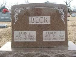 "Alpha Adela ""Fannie"" Gray Beck (1868-1939) - Find A Grave Memorial"
