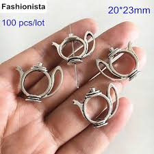 beads tea pot charms antique silver