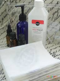 diy cleansing wipes with