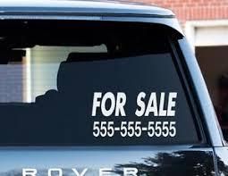 Custom For Sale Sticker 6 X 12 Your Phone Number Vinyl Window Decal Car Truck Ebay