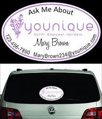 Younique Perforated Window Decal Oval Sizes Are 20 Inch And 30 Inch Small And Large Tupperware Window Decal Cars Trucks Vans Suv