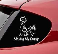 Amazon Com Slap Art Making My Stick Figure Family Funny Vinyl Decal Bumper Sticker Automotive