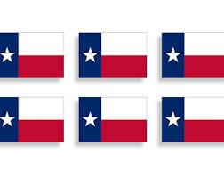 Texas Flag Decal Etsy