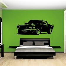 Removable Vintage Xl Large Car Ford Mustang 1969 Wall Art Decal Sticker Home Decoration Art Mural 1024x1024 Jpg Wall Stickers Bedroom Car Wall Art Wall Sticker