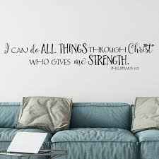 Philippians 4v13 Vinyl Wall Decal 5 I Can Do All Things Through Christ