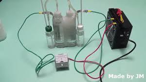 diy water electrolysis kit hydrogen