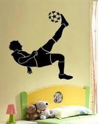 Soccer Football Player Boy Room Mural Wall Vinyl Decal Boys Room Mural Vinyl Wall Decals Soccer Room