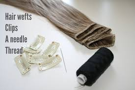 how to make double wefted clip in hair