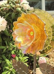 glass flowers garden art yard art
