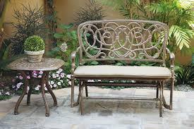 patio furniture glider bench cast