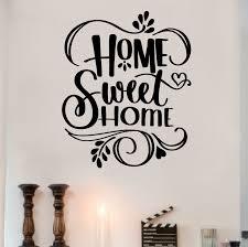Enchantingly Elegant Home Sweet Home Wall Decal Reviews Wayfair