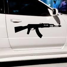 Length 70cm Ak 47 Kalashnikov Classic Car Sticker For Cars Side Truck Window Auto Suv Door Kayak Vinyl Decal 8 Colors Car Sticker Sticker For Carfor Car Aliexpress