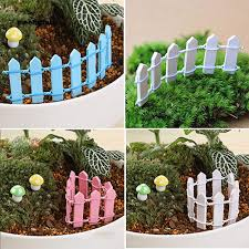 Mwhite 5 Pcs Mini Lovely Wooden Fence Garden Ornament Plant Pots Fairy Scenery Decor Shopee Philippines