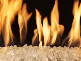 frosted fire beads vented natural gas