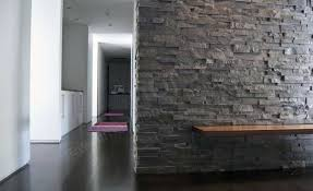 stacked stone veneer feature wall