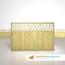 Tongue And Groove Lattice Top Fence Panels 4ft X 6ft Natural Berkshire Fencing