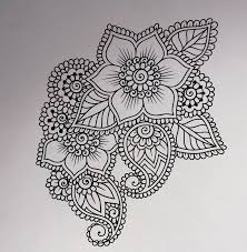 Abstract Flowers Mehndi Wall Vinyl Decal Henna Indian Ornament Sticker Indian Religions Home Decor Paisley Removable Mural Wall Vinyl Vinyl Decalhome Decor Aliexpress