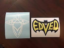 Pearl Jam Eddie Vedder Edved Batman Sticker And Surfboard Cross Car Decal 1451194146