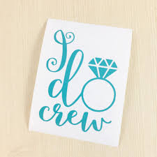 I Do Crew Decal Wedding Cup Decal Diy Bachelorette Bridal Party Gift Wine Glass Decal I Do Crew Sticker Wedding Decal Wedding By Simplygracefuldes