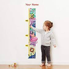 Amazon Com Spongebob Squarepants Personalized Growth Chart Wall Decal For Kids Room Arts Crafts Sewing