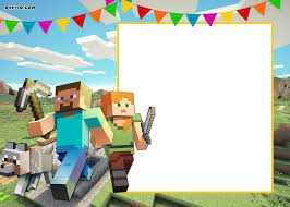 Free Printable Minecraft Birthday Invitation Template Update
