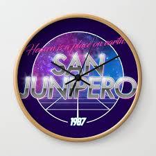 san junipero black mirror wall clock