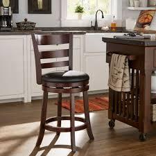 wooden swivel bar stool kitchen high