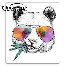 Jump Time For Cool Panda Bear Vinyl Stickers Hippy Fun China Sticker Laptop Decal Window Tank Waterproof Car Decoration Car Stickers Aliexpress