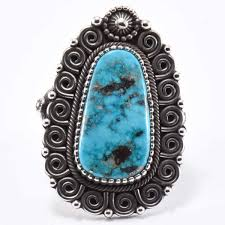 Ivan Howard Morenci Turquoise Ring - Four Winds Gallery