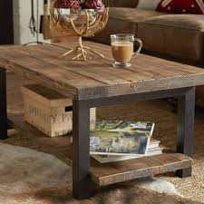 coffee tables brown square rustic wood