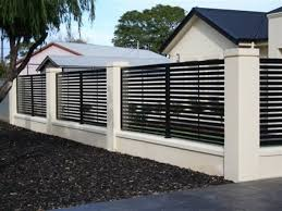 Black And White Minimalist Fence Color Modern Fence Design House Fence Design Modern Fence
