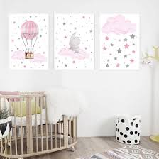 Shop Lovely Hot Balloon Star Cloud Poster Canvas Painting Kid Room Bedroom Wall Decor Online From Best Arts Crafts On Jd Com Global Site Joybuy Com