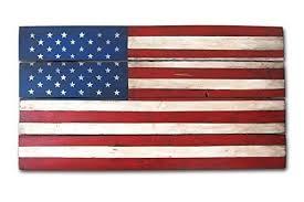 rustic u s flag wood wall art