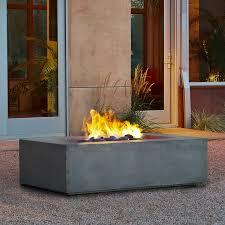 concrete natural gas fire pit table