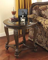 norcastle dark brown round end table