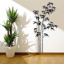 Bamboo Tree Grass Wild Jungle Wall Stickers For Living Room Background Vinyl Art Decals Murals Removable Wall Decals Bedrooml125 Wall Stickers Aliexpress